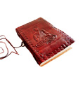 Handmade Paper Notebook with Leather Cover