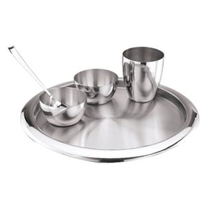 Stainless Steel 5 Pcs Dinner Set  sc 1 st  Uncommon Gifts : steel plate set - pezcame.com
